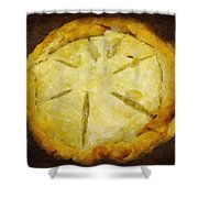 The Art Of The Pie Shower Curtain