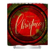 The Art Of Vhristmas Cheer Shower Curtain