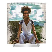 The Art Of Yoga Shower Curtain
