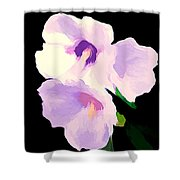 The Artful Hibiscus Shower Curtain