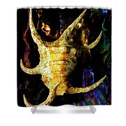 The Arthritic Spider Conch Seashell Shower Curtain
