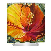 The Artisan Hibiscus Shower Curtain