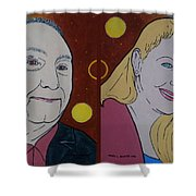 The Artist And His Muse Shower Curtain