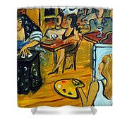 The Artist And The Fortune Teller Shower Curtain