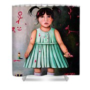 The Artist-beginning Of A Child Prodigy Shower Curtain