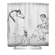 The Artist Shower Curtain by Gerlinde Keating - Galleria GK Keating Associates Inc