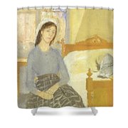 The Artist In Her Room In Paris Shower Curtain