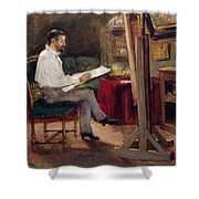 The Artist Morot In His Studio Shower Curtain