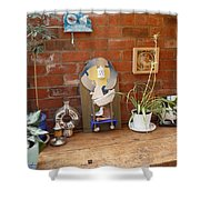 The Artists Bench Shower Curtain