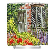 The Artist's Cottage Shower Curtain
