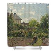 The Artist's Garden At Eragny Shower Curtain