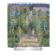 The Artists Garden At Vetheuil Shower Curtain