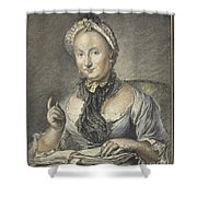 The Artist's Wife With A Book Shower Curtain