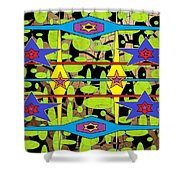 The Arts Of Textile Designs #28 Shower Curtain