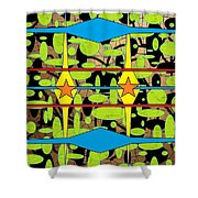 The Arts Of Textile Designs #3 Shower Curtain