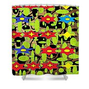 The Arts Of Textile Designs #42 Shower Curtain