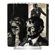 The Assassination Of Abraham Lincoln Shower Curtain by English School
