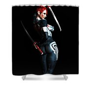 The Assassin's Code Shower Curtain