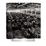 The Assembly Plant Of The Bell Aircraft Corporation In 1944 Shower Curtain
