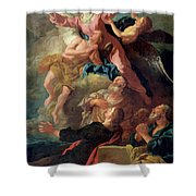 The Assumption Of The Virgin Shower Curtain by Jean Francois de Troy