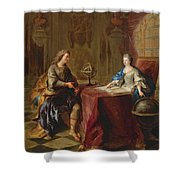 The Astronomy Lesson Of The Duchesse Du Maine Shower Curtain