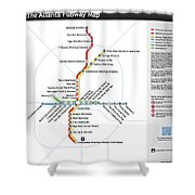 The Atlanta Pubway Map Shower Curtain