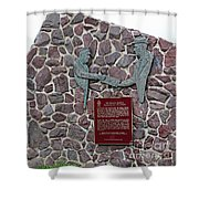 The Atlantic Charter Monument Closeup Shower Curtain
