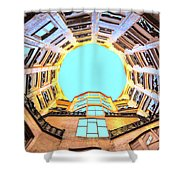 The Atrium At Casa Mila Shower Curtain