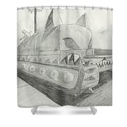 The Attack Tank Shower Curtain