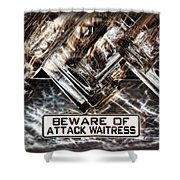 The Attack Waitress  Shower Curtain