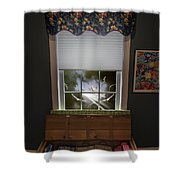 The Attic Window Shower Curtain