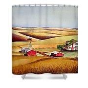 The Aune Farm Shower Curtain