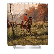 The Autumn Hunt Shower Curtain