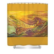 The Autumn Music Wind Shower Curtain