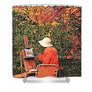 The Autumn Painter Shower Curtain