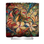 The Autumn Wind Shower Curtain