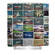 The Aviation Art Of Frank L Hunter Shower Curtain