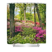 The Azalea Woodland Shower Curtain