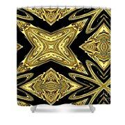 The Aztec Golden Treasures Shower Curtain