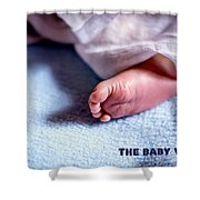 The Baby Wait Shower Curtain