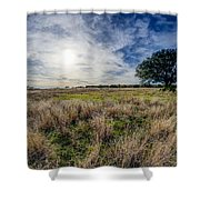 The Back Forty II Shower Curtain