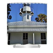 The Back Of The Lighthouse Shower Curtain