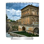 The Back Of The Pitti Palace In Florence Shower Curtain