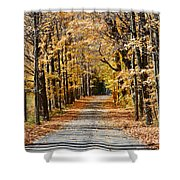 The Back Road In Autumn Shower Curtain