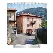 The Back Street Towards Home Shower Curtain