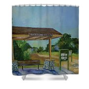 The Backbone Trail Shower Curtain