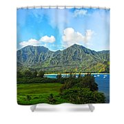 The Backside Of The Napali Coastline Shower Curtain