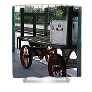 The Baggage Cart And Truck Shower Curtain