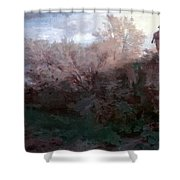 The Bagpiper Shower Curtain