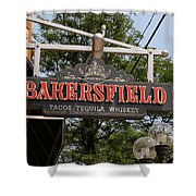 The Bakersfield Sign Shower Curtain